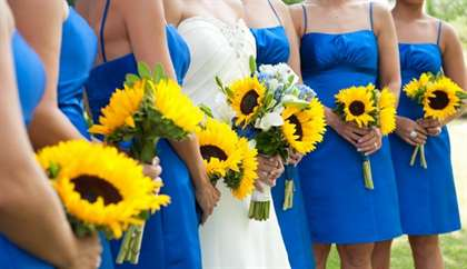 Сине желтый букет