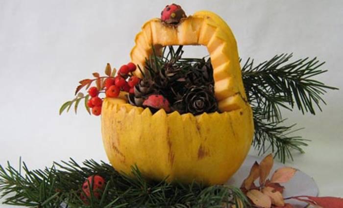 Осенняя композиция из овощей